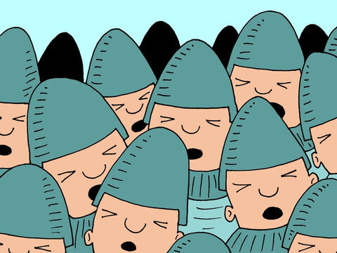 Suddenly the whole Syrian army became blind. They fumbled around, bumping and barging into each other. – Slide 5