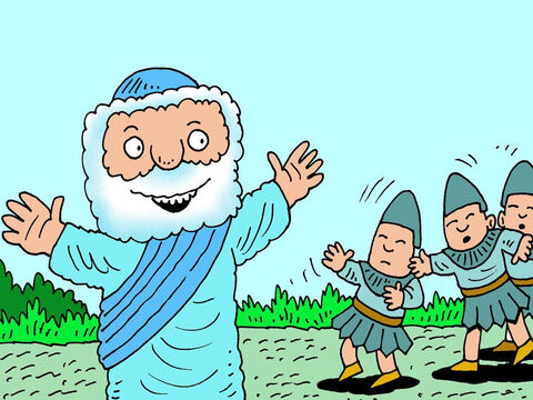 'This way! This way!' Elisha shouted. 'I know who you are looking for and I will lead you to him. – Slide 7