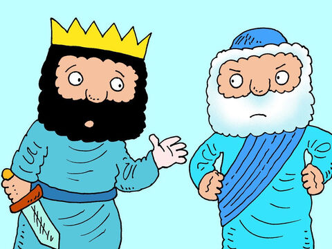 'No,' Elisha insisted. 'You didn't capture them. You didn't have to fight them.'<br/>'What shall I do with them then?' the King asked. – Slide 14