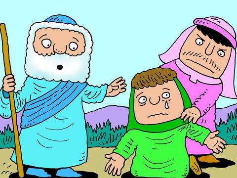 Gehazi didn't like to see his master being held like this. He grabbed the woman angrily and pulled her away. – Slide 10