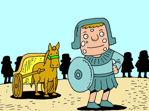 When Naaman heard about Elisha he dressed in his finest uniform, got into his chariot and rode off with his troops to Elisha's house. – Slide 12