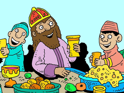 The Bible opens the story of Esther with a feast hosted by the ruler of the Medes and Persians, King Ahasuerus. It was attended by all the important people in his vast empire. – Slide 2