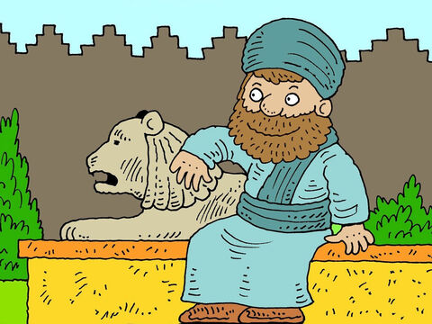 One of the king's subjects was a man called Mordecai. He was a Jew who lived near the palace. – Slide 9