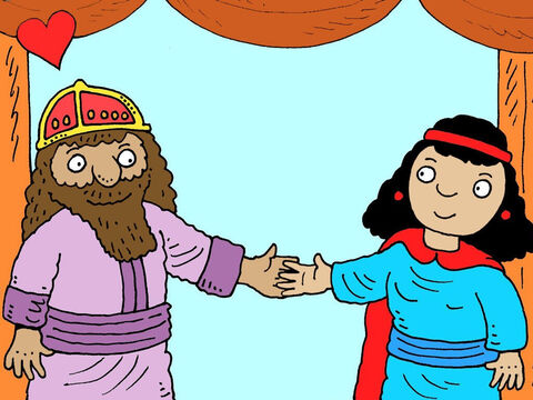 As soon as the king saw Esther he fell in love with her. He liked Esther more than all the other young women hoping to become queen. – Slide 14