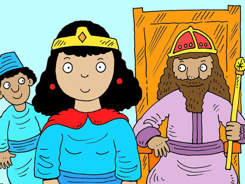 The king announced that Esther should be crowned and become the new queen of Persia. – Slide 15