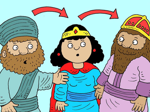 Mordecai told Esther about the plot and Esther reported them to the king. – Slide 17