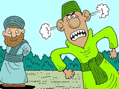 When proud Haman saw that Mordecai the Jew refused to bow to him, he was very angry. – Slide 5