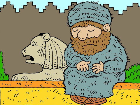 When Mordecai heard about Haman's plans he was very sad. He put on old scratchy clothes called sackcloth worn by those who were mourning. – Slide 11