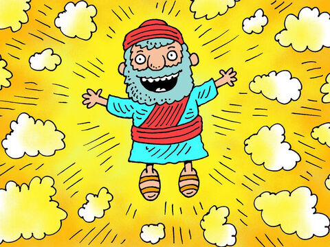 As soon as Ezekiel had eaten the roll of paper, God lifted him up to the sky and surrounded him with glory! – Slide 9