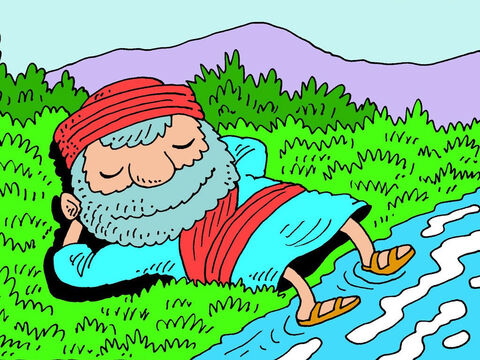 Ezekiel was so overwhelmed by all he had seen and heard, he just stayed by the river for a whole week without speaking. – Slide 11