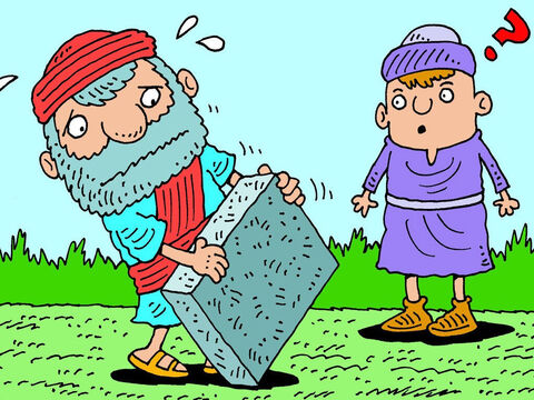 The message when it came was very strange. God told Ezekiel to go and get a large flat brick. – Slide 2