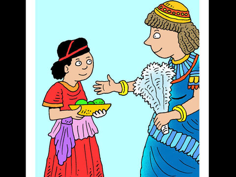 Naaman's maid <br/>Naaman's young Jewish maid had been captured on one of the army general's raids into Israel. When she learnt that her captor had contracted leprosy she told his wife that God could help him. – Slide 4
