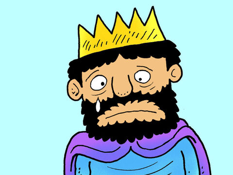 King Hezekiah was a good King who did all he could to encourage people to obey God. But he became very ill when his body became infected. – Slide 1