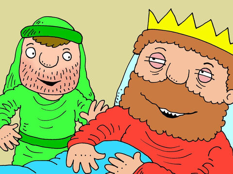 Isaiah went back to the king and told him what God had said. He was delighted. 'You have another 15 years to live,' said Isaiah.' – Slide 10