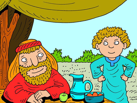 When Abraham was old, he decided to find a suitable wife for his son Isaac. Abraham sent for his best servant. – Slide 1