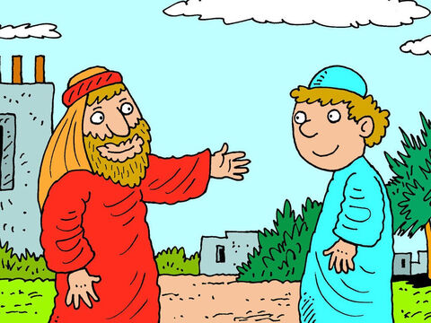 'I do not want my son to marry any of the local Canaanites,' Abraham explained. 'I am sending you to where I used to live. You will find a wife for Isaac there.'<br/>'But …' the servant said, 'What if she does not want to come back with me? Will I have to take Isaac to her?' – Slide 2