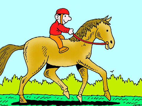 When the rider pulls on the reins the 'bit' moves in the horses mouth indicating what direction to go and when to stop. – Slide 4