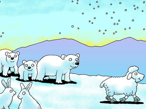 It began to feel very cold. Where is little lamb now? – Slide 12