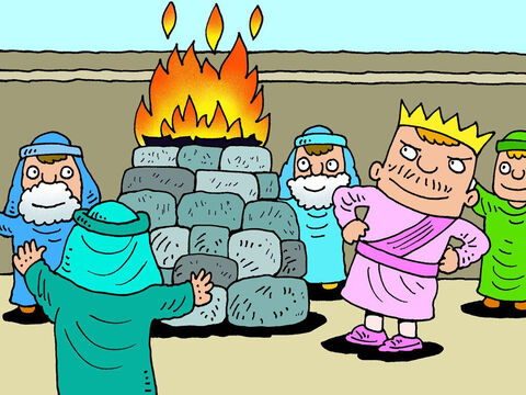 He even had altars to false gods set up in the Temple of God in Jerusalem. This was rude and insulting to the One True God. – Slide 5