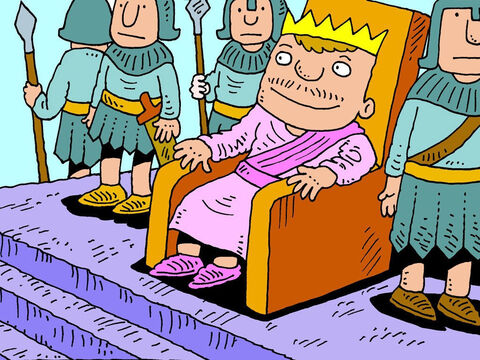 Manasseh went back to his palace, his servants and wealth – but this time he was a different kind of king. – Slide 20