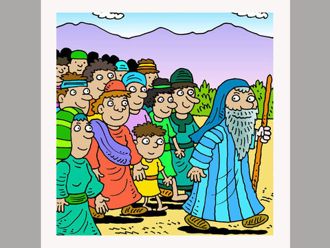 Three months after God led the Israelites out of Egypt they arrived at the base of a large mountain, called Mount Sinai in the hot desert wilderness. – Slide 2