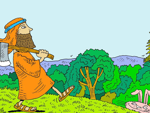 So God told Noah, 'Build a boat of cypress wood for yourself. Make rooms in it and cover it inside and outside with tar. – Slide 5