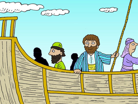 Paul had been arrested by the Romans and charged with causing trouble because he was a Christian. He had appealed for his case to be heard in Rome, so he was being escorted there, guarded by Roman soldiers. – Slide 2