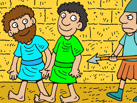 Paul was in the Roman city of Philippi and had shown the power of Jesus to deliver a slave girl from a evil spirit that gave her the ability to tell fortunes.  Her owners, who had made money from her fortune telling, were furious. They stirred up an angry mob who dragged Paul and Silas before the local judges. They sentenced Paul and Silas to be beaten with rods across their backs and put in prison. – Slide 1