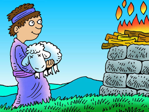 The Bible tells us the names of a few people who showed their faith in God by doing something. For example, Abel offered the right sacrifice for his sins. – Slide 1