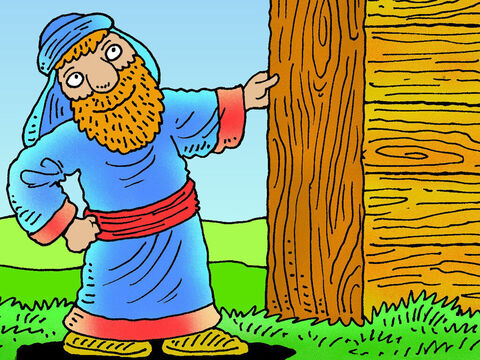 Noah showed his great faith in God by building an enormous boat. – Slide 2
