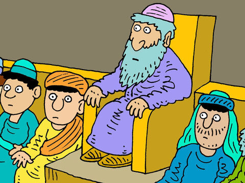 'These Pharisees and teachers of the law love to have the most important seats at the feasts. And they love to have the most important seats in the synagogues. – Slide 8