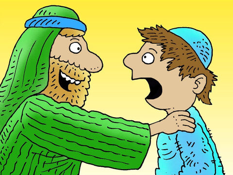 The son was so surprised. He never expected such a welcome. He wept, 'Father I have sinned against God and against you. I am not good enough to be called your son!' – Slide 12