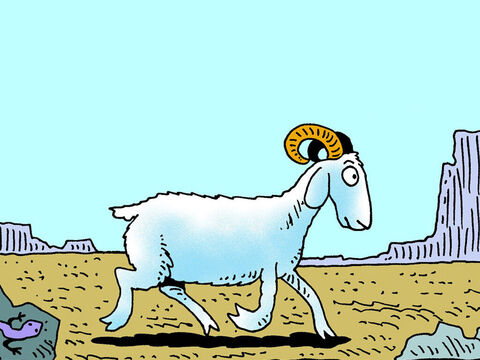 This goat would be a picture of what God does with our sin when He forgives us. Just as the goat would be taken away, our sins would be taken away and never returned. – Slide 3