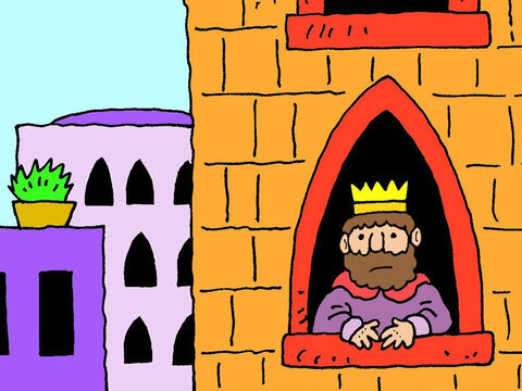 The king then tried to find fulfillment by planning big building projects: a magnificent palace, stables and a Temple. – Slide 10