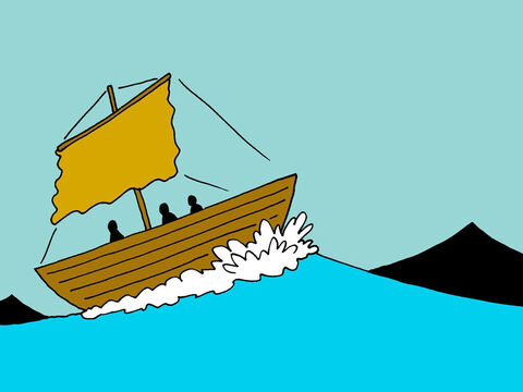 The wind had risen and they were fighting heavy seas. – Slide 3