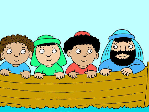When Jesus and Peter got into the boat, the wind stopped blowing. – Slide 14