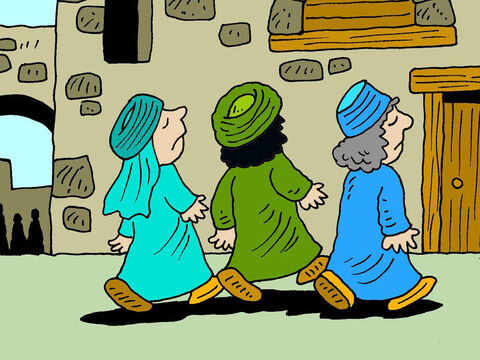 Those who were accusing the woman began to leave one by one. The older men left first, and then the others. – Slide 7