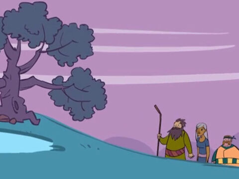 When they came to the land of Canaan Abraham went as far as the sacred tree of Moreh, in a place called Shechem. – Slide 9