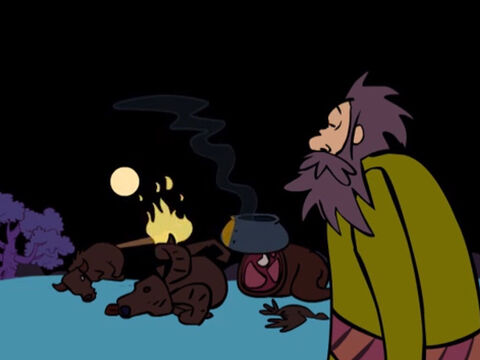 … a smoking firepot with a blazing torch went between the two halves of each animal. – Slide 22
