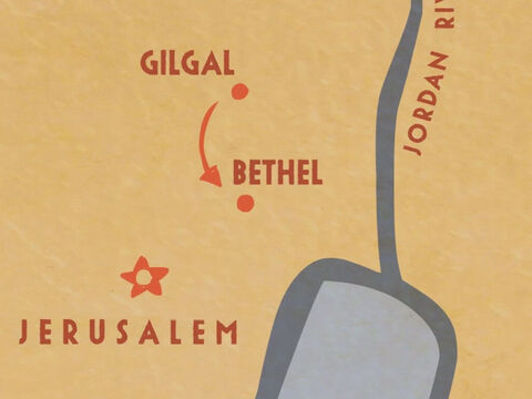 And he went with Elijah to Bethel. – Slide 4