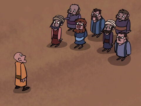 They walked over to him and bowed to greet their new leader. – Slide 31