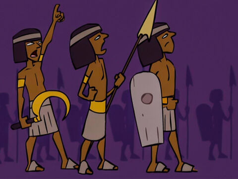 … made it dark for the Egyptians. During the night they could not come any closer. – Slide 21