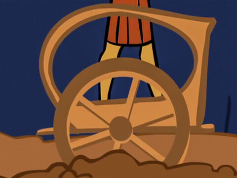 The chariot wheels got stuck and it was hard for them to move. – Slide 26