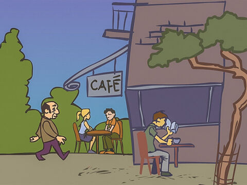 The next day the judge visited his local café and ordered a black coffee. – Slide 14