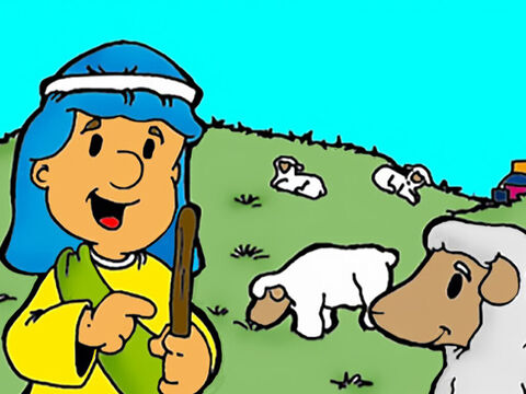 So Jesus told them this parable. 'Suppose one of you has a hundred sheep and then you find that one of them is missing. – Slide 3