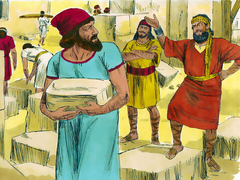 At first they offered to help but Zerubbabel and Jeshua, knowing they did not worship God, declared, 'You have no part with us in building a temple for our God, the God of Israel,' The enemies of the Jews then tried to stop the building work by paying people to bully the builders and threaten them. – Slide 2