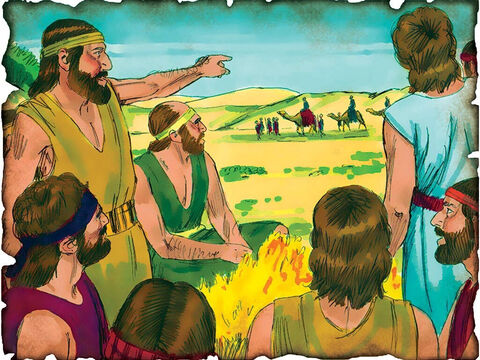 """Joseph is Sold into Slavery! 1898 B.C. Genesis 37: Jacob's favorite son Joseph is sold into slavery for twenty pieces of silver to the Ishmaelites. """"So the brothers pulled Joseph up and lifted him out of the pit, and sold him to the Ishmaelites for twenty shekels of silver. And they took Joseph to Egypt."""" – Slide 9"""