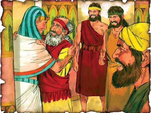 "God's Promise is Unbroken - Joseph Forgives His Brothers! 1859 B.C. Genesis 50: Joseph forgives his brothers for selling him into slavery. Joseph reminds them of God's promise to take them out of Egypt back to the Promised Land. ""But as for you, you meant evil against me; but God meant it for good."" – Slide 11"