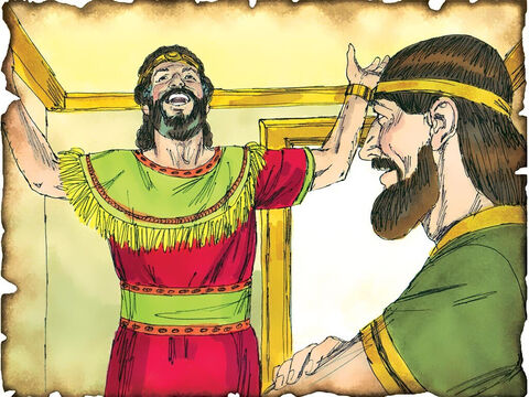 "God Establishes the Davidic Covenant from which Jesus the Messiah Will Come! 1010 B.C 2 Samuel 7: God surprises David by rejecting David's desire to build a temple for God and promises to bless David and his lineage forever. ""And your house and your kingdom shall be established forever before you, Your throne shall be established forever.""' – Slide 21"