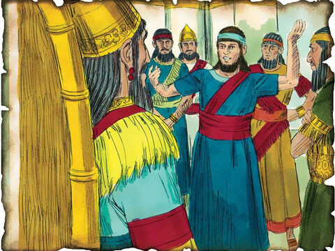 """Daniel Interprets King Nebuchadnezzar's Dream! 604 B.C. Daniel 2: While in captivity Daniel tells the mightiest man on earth, King Nebuchadnezzar, that God will yet establish His kingdom on earth and that Babylon will be destroyed. """"The great God has made known to the king what will come to pass after this. The dream is certain, and its interpretation is sure."""" – Slide 27"""